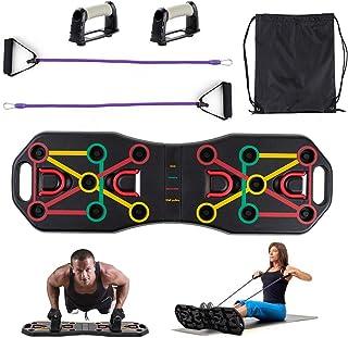 Locisne Panneau support panneau poussée d'entraînement portatif avec des bandes résistance,système d'entraînement muscle a...