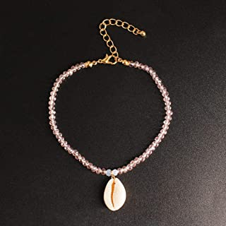 Jewelry_Natural Shell Beach Anklet New Handmade Crystal Multicolor K246