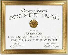 Lawrence Frames 8.5x11 Sutter Burnished Gold Picture Frame
