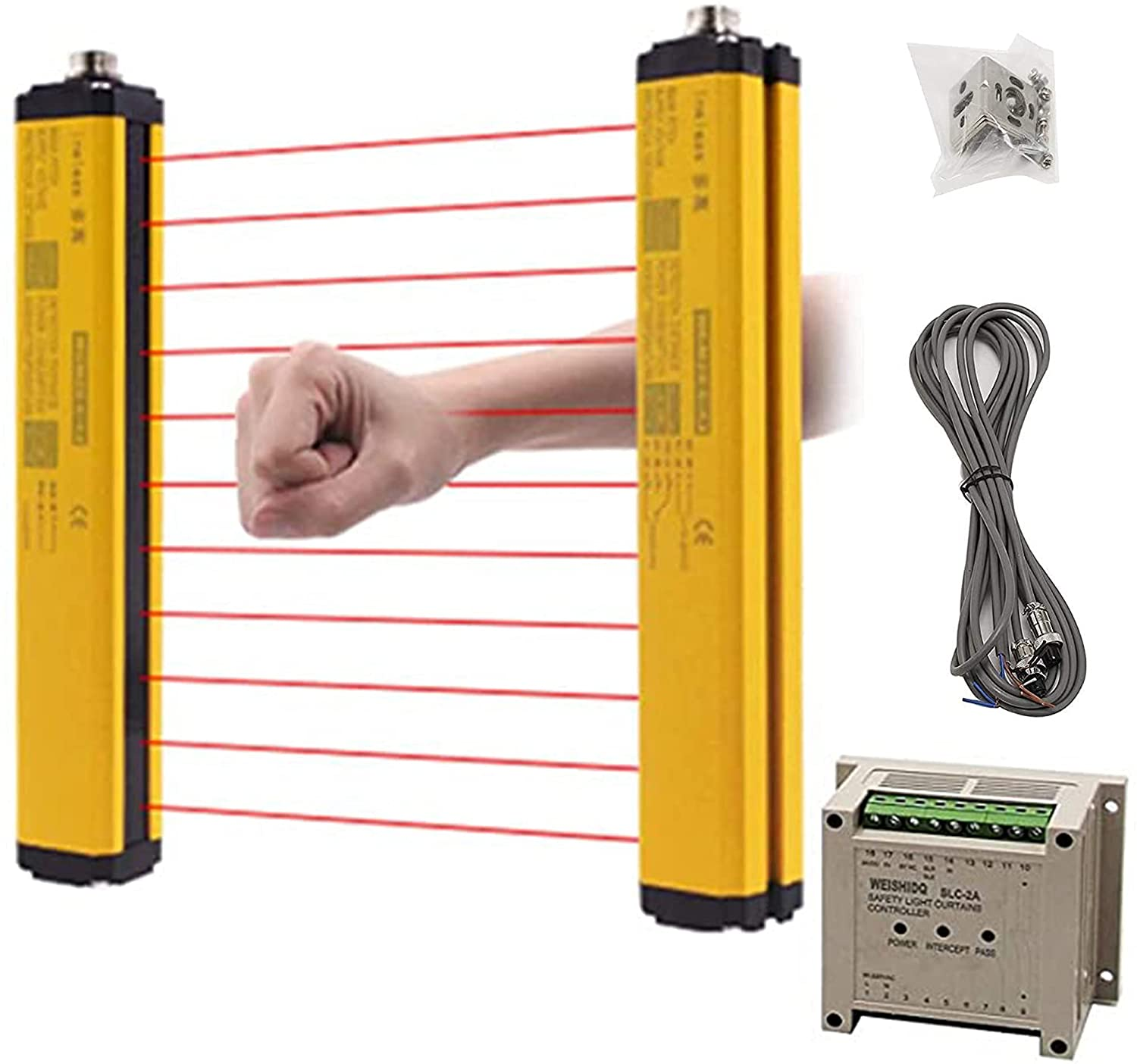 CGOLDENWALL Free Shipping New Safety Light Sensor Rare Protection Curtains