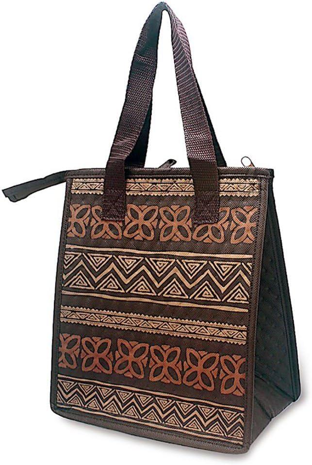 Hawaiian Insulated Lunch Bag Tapa Brown