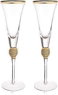 Trinkware Wedding Champagne Flutes - Rhinestone