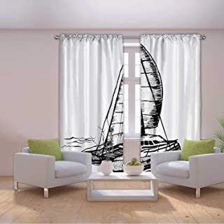 MOOCOM Catamaran Sailboat Monochrome Vector,087453,W58'' x H45''