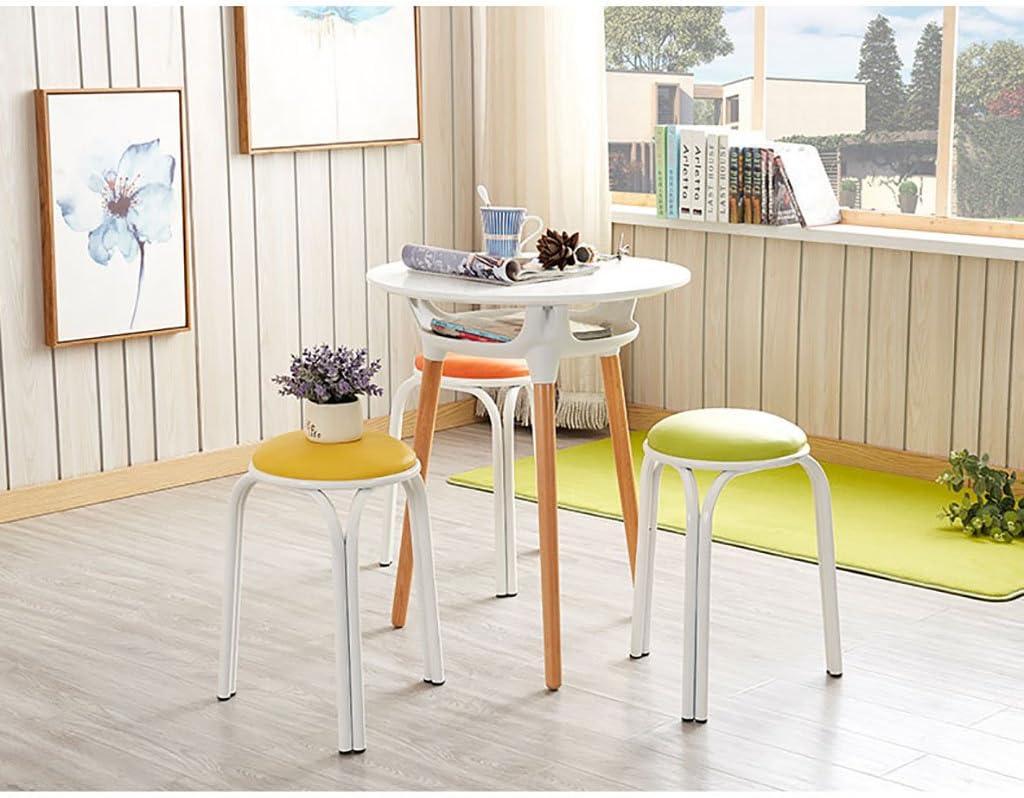 Round stool JF Chaise Ronde/Tabouret Rond/Chaise à Manger Plus épaisse 26cm * 46cm Multi Couleurs Options (Couleur : F) C