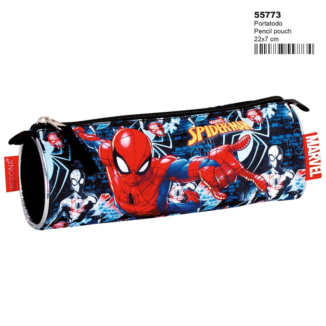 Marvel Spiderman - 'Radioactive' Round Pencil Cases, 22 cm, Multicolour