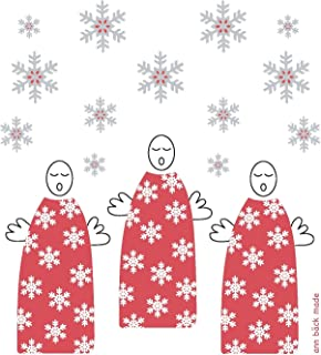 Trendy Tripper Swedish Dishcloth, A Christmas Holiday with Angels & Snowflakes