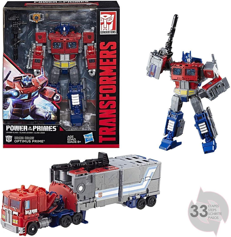 Transformers E1147 Figur Generationen Power of The Prämien Leader Optimus Prime B07864WXY6  Spielen Sie auf der ganzen Welt und verhindern Sie, dass Ihre Kinder einsam sind       Verschiedene Stile