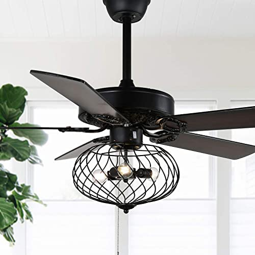 """wholesale 42"""" Modern Black online sale Industrial Ceiling Fan discount with Remote outlet sale"""