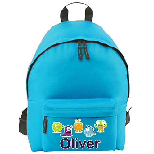 08731e52d387 Personalised School Bag for Boy Girl Kid s Name   Design on Backpack  Rucksack
