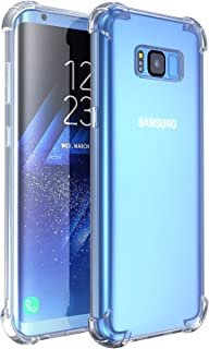 RKINC Case for Samsung Galaxy S8 Plus, Crystal Clear Reinforced Corners Soft TPU Bumper Cushion + Hybrid Rugged Soft Transparent Panel Cover for Samsung Galaxy S8 Plus