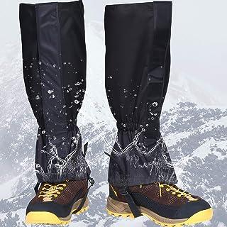 گتر ساق پا ضد آب SATINIOR سبک وزن قابل تنظیم گوت کفش برفی قابل تنظیم با قلاب بند بند فلزی برای کفش برفی پیاده روی شکار در حال اجرا موتور سیکلت پیاده روی