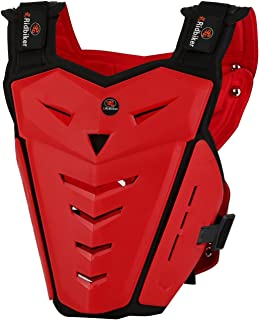 Ridbiker Motorcycle Armor Vest Motorcycle Riding Chest Armor Back Protector Armor Motocross Off-Road Racing Vest,Red