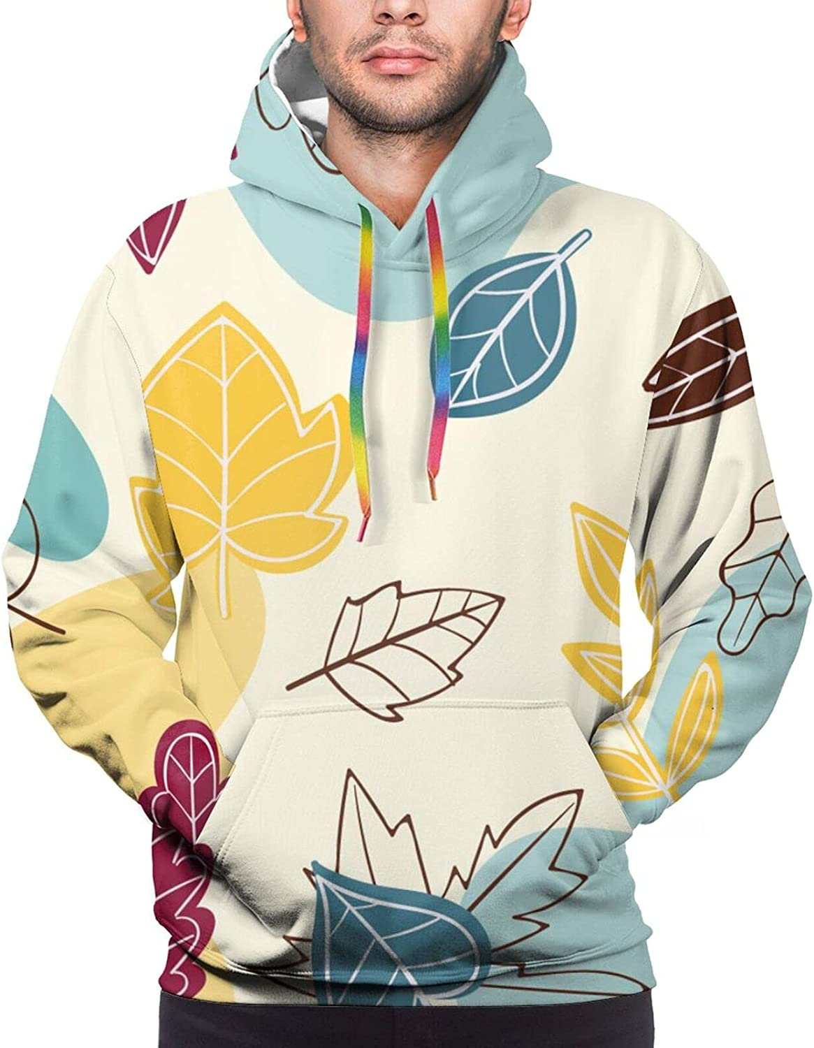 Hand Drawn Sketch Color Autumn Free 2021new shipping free shipping shipping Men Casual Leaves Novelty Graphic