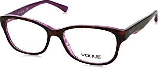Vogue VO2814 اطارات النظارات 2019-53 - اطار بلون هافان لؤلؤي، عدسات تجريبية VO2814-2019-53