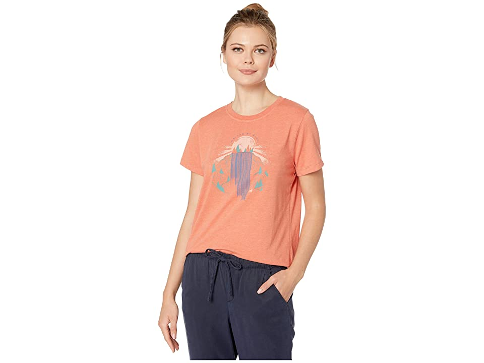 United By Blue Rolling Waters Short Sleeve 55/45 Graphic Tee (Canyon Orange) Women
