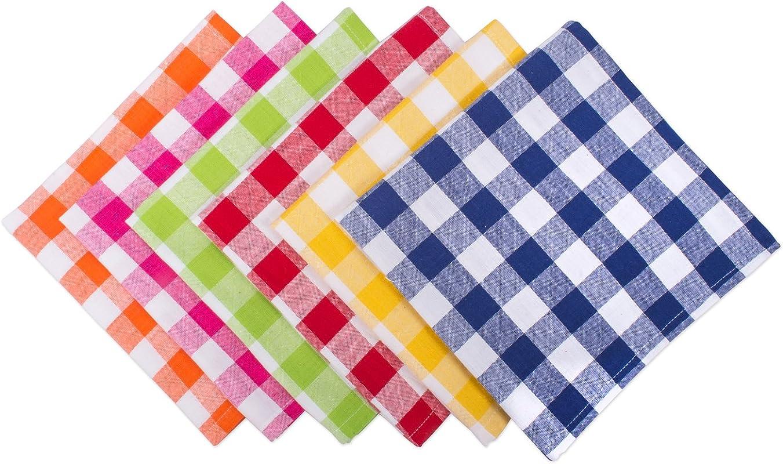 DII Set Of 6 Buffet Checkers Napkin 18 X 18