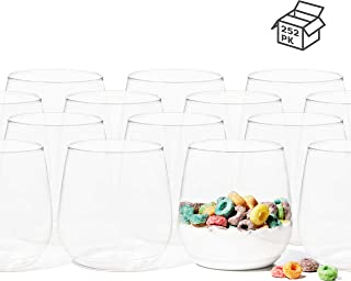 TOSSWARE Tumbler Jr 12oz Set of 252 recyclable cocktail and whiskey plastic cup - stemless, shatterproof and BPA-free, Set of 252-Recyclable