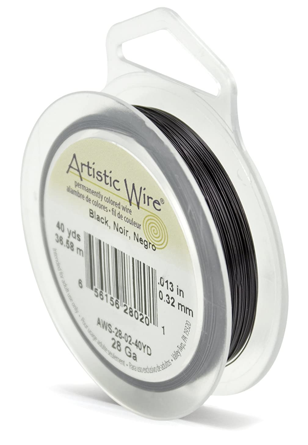 Artistic Wire 28-Gauge Black Wire, 40-Yards