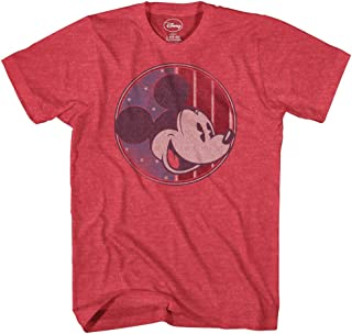 Disney Mickey Mouse Shirt America Patriotic American Red White Blue Men's Tee