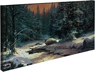 Thomas Kinkade Winters End 16 x 31 Gallery Wrapped Canvas