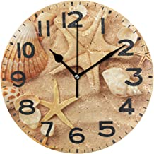 Naanle Chic 9.5 Inches Round Fashion Wall Clock, Battery Operated Quartz Analog Quiet Desk Clock for Home,Office,School 9.5in Multi g12191951p239c274s441