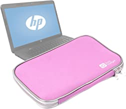 DURAGADGET Pink Water Resistant Neoprene Laptop Cover with Dual Zips for HP Winter Blue 15.6