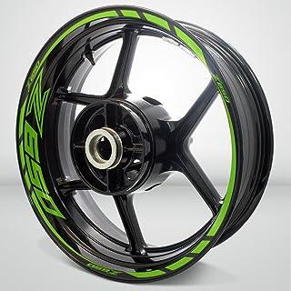 Matte Green Motorcycle Rim Wheel Decal Accessory Sticker For Kawasaki Z650