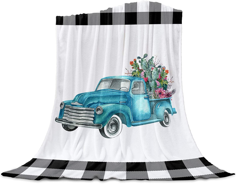 LEO BON Soft Ranking Brand new TOP14 Warmer Throw Blankets Season for Truck wit All Blue