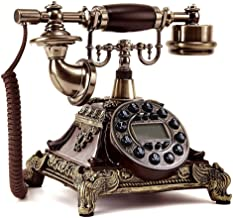 $89 » European Rotary Dial Phone Old Vintage Handset Wired Telephone Antique Landline Old Fashioned Rotary Dial Antique Telephon...