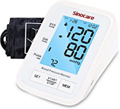 Sinocare Blood Pressure Monitor Upper Arm with 2 Users 90 Memory, [2020 Upgraded] Automatic Digital BP Mach...
