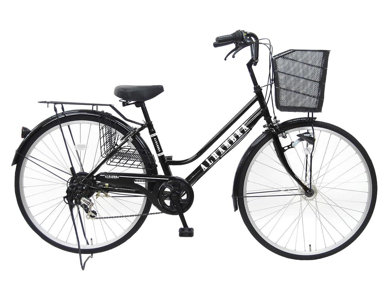習慣フェミニン司令官アルハンブラ 27インチ シマノ6段変速 LEDオートライト 軽快 自転車 ママチャリ