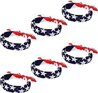 american flag made of bandanas