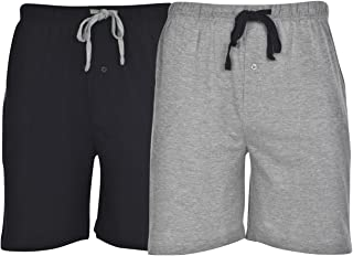 Men's 2-Pack Knit Sleep Pajama Drawstring Shorts