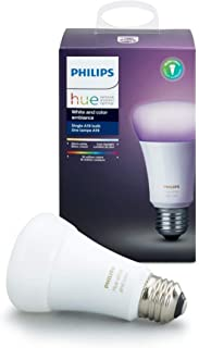 Philips Hue Single Premium A19 Smart Bulb, 16 million...