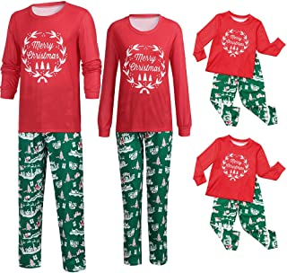 71ba02e123 Family Matching Pajamas Casual Sleepwear Christmas Family Indoor Shirt Pants  Nightwear Pajamas Matching Sets