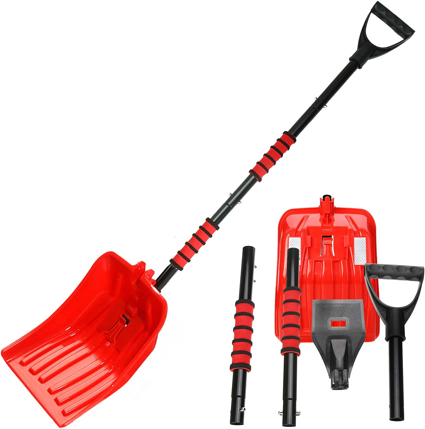 TVIRD New Shipping Free Shipping 5-in-1 free Snow Shovel +37''Ice Portable 46'' Kit