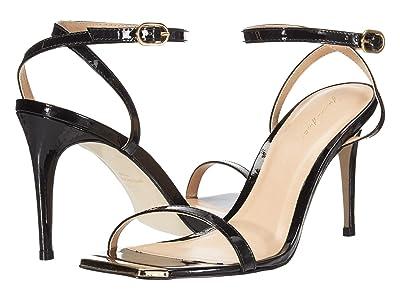 Massimo Matteo Gold Tip Heeled Sandal (Black) Women