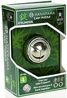 BePuzzled 30811 Cylinder Hanayama Cast Metal Brain Teaser Puzzle (Level 4) Puzzles For Kids & Adults Ages 12 & Up
