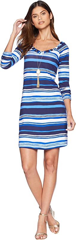 Bright Navy Jungley Stripe Horizontal