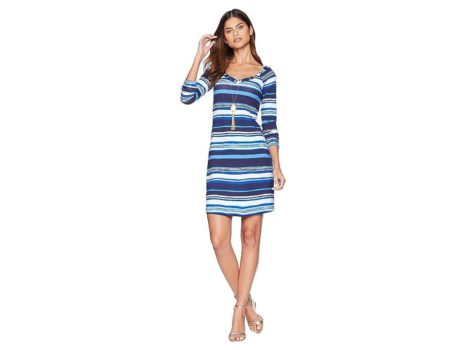 Lilly Pulitzer Suzanna Dress (Bright Navy Jungley Stripe Horizontal) Women