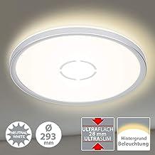 Briloner Leuchten Led-plafondlamp, plafondlamp met achtergrondverlichtingseffect, 18 W, 2.400 lumen, 4.000 Kelvin