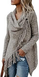 Women's Long Sleeve Speckled Fringe Open Front Cardigan Sweaters for Women