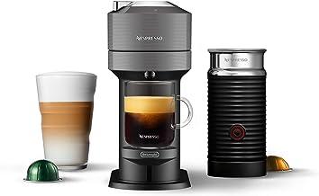 Nespresso Vertuo Next Coffee & Espresso Machine by De'Longhi, Dark Grey w/Aeroccino Milk Frother, One Touch Brew, Single-S...