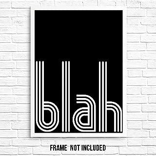 Sarcastic Funny Quote Retro Wall Decor Art Print Poster - Blah - 11