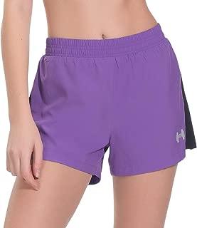 Archaeus Women Running Shorts Active Workout Jogging Sports Shorts Back Pocket