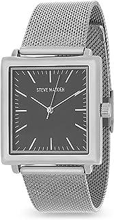 Steve Madden Mens Square Case Men Alloy Band Watch SMW188