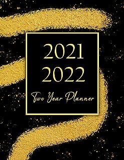 2021-2022 Two Year Planner: Daisy flower Weekly Schedule 2 Year Monthly Planner Calendar Schedule