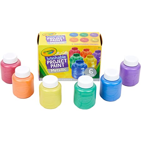 Crayola Washable Metallic Paint Set, 2-Ounce, 6 Count