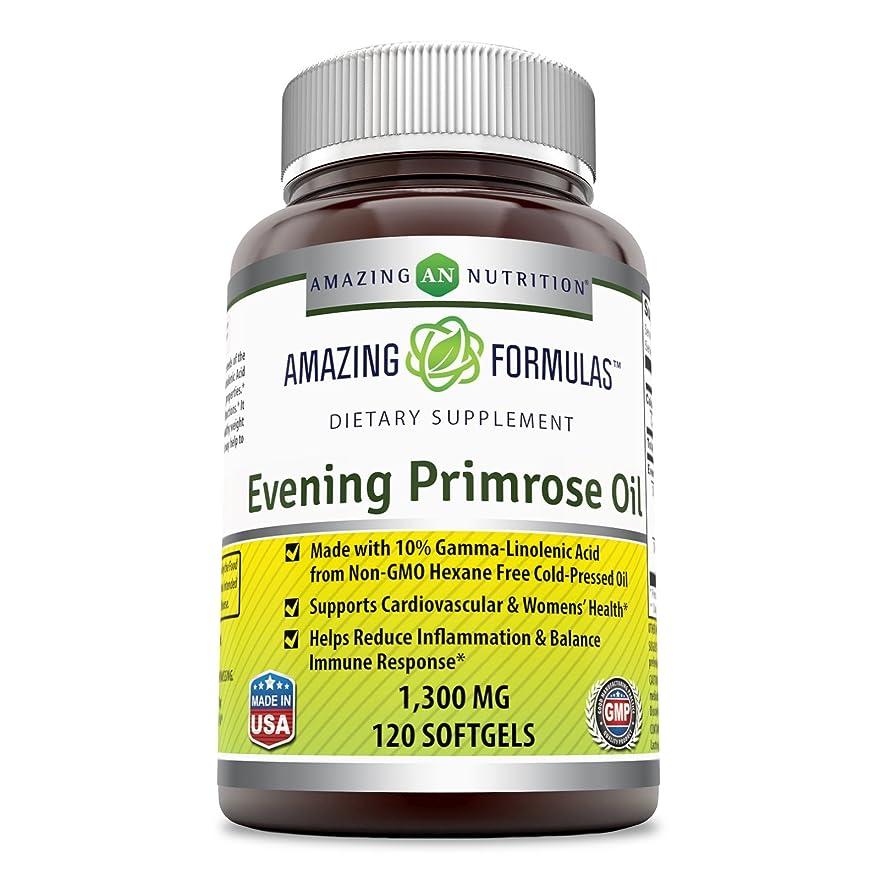 退却バレエ回答Amazing Formulas Evening Primrose Oil 1300 Mg 120 Softgels - High Potency- Made with 10% Gamma Linoleic from Non-GMO Hexane Free Cold Pressed Oil