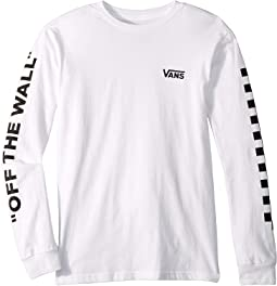 Left Check Long Sleeve T-Shirt (Big Kids)